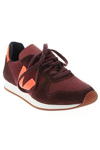 veja chaussures femme de couleur rouge