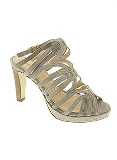 Sandales/Nu pieds gris FOSCO pour femme