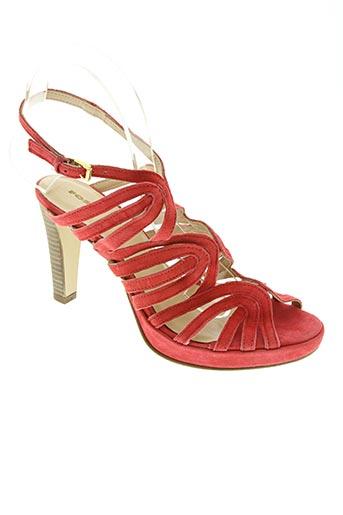 fosco chaussures femme de couleur rouge