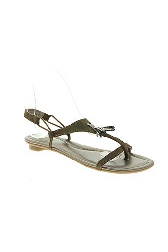 sms chaussures femme de couleur vert