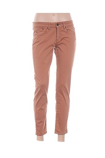 Pantalon 7/8 orange CORLEONE pour femme