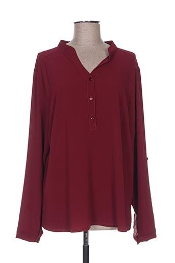 halogene chemises femme de couleur rouge