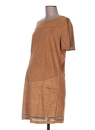 Robe mi-longue marron COLLINE pour femme