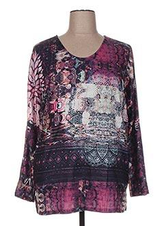 T-shirt manches longues rose H-3 pour femme