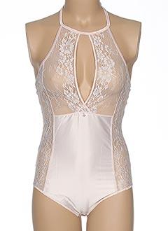 Body lingerie rose LINGADORE pour femme