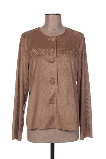 escandelle vestes femme de couleur marron