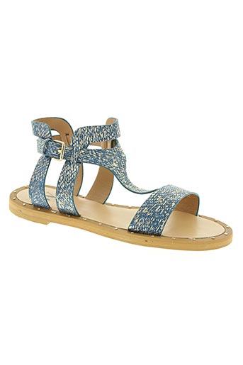 vanessa wu chaussures femme de couleur bleu