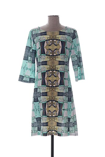 Robe mi-longue vert EGO pour femme