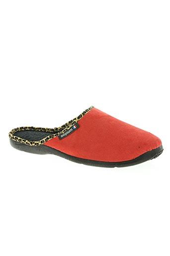 airplum chaussures femme de couleur rouge