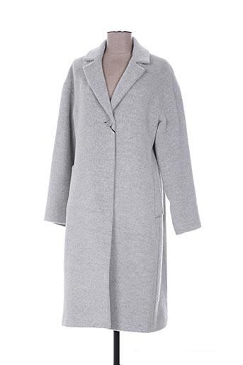 cinzia rocca manteaux femme de couleur gris