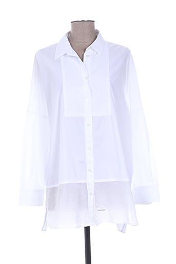 weekend maxmara chemises femme de couleur blanc