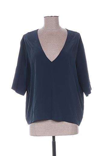 Blouse manches courtes bleu SAMSOE & SAMSOE pour femme