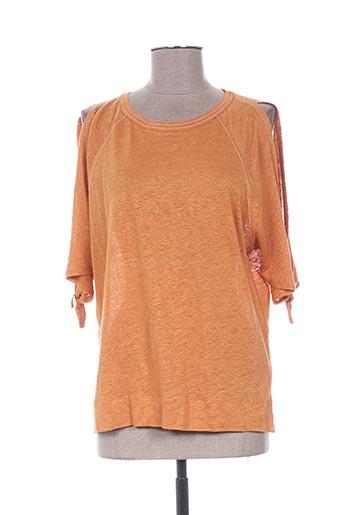 T-shirt manches courtes jaune WHISTLES pour femme