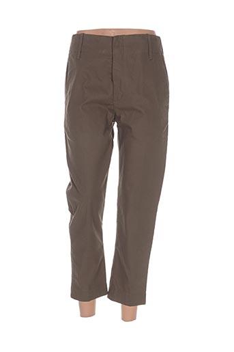 Pantalon 7/8 vert LAURENCE BRAS pour femme