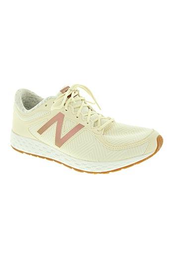 new balance chaussures femme de couleur beige