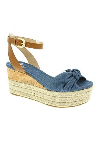 michael kors chaussures femme de couleur bleu