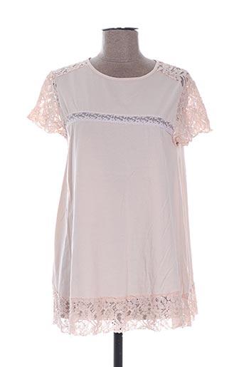 T-shirt manches courtes rose ALEXANDRE LAURENT pour femme