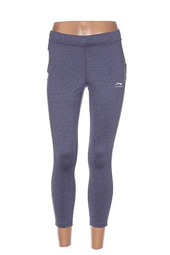li-ning pantalons femme de couleur violet