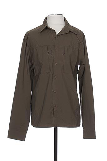 Chemise manches longues vert LAFUMA pour homme
