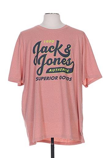 jack & jones t-shirts homme de couleur rose