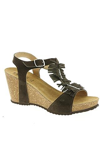 Sandales/Nu pieds marron COCKTAIL pour femme