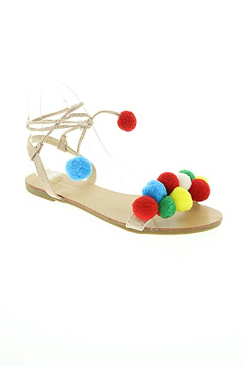 ideal shoes chaussures femme de couleur beige
