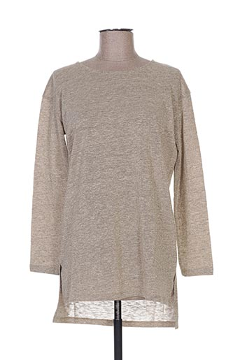 T-shirt manches longues beige NICE THINGS pour femme