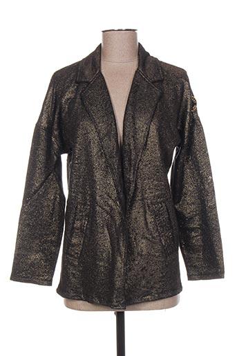 Veste casual noir FRENCH TERRY pour femme