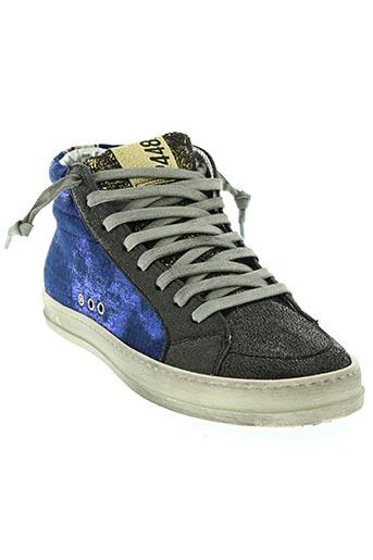 p448 chaussures femme de couleur bleu
