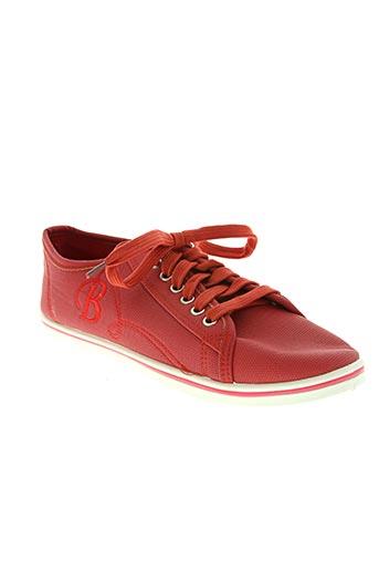 sport chaussures femme de couleur rouge