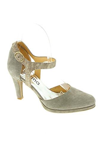 myma chaussures femme de couleur beige