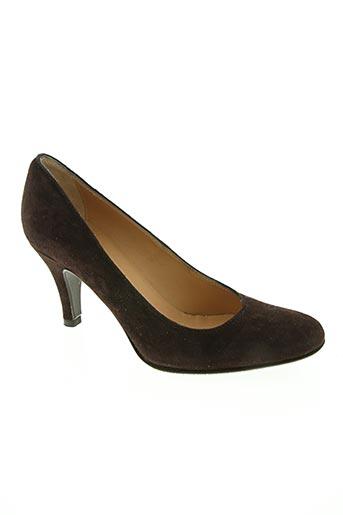 ballerina chaussures femme de couleur marron