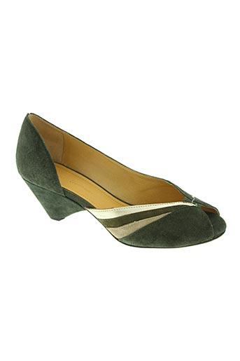 anonymous chaussures femme de couleur vert