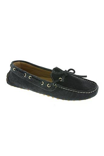bertone chaussures femme de couleur bleu