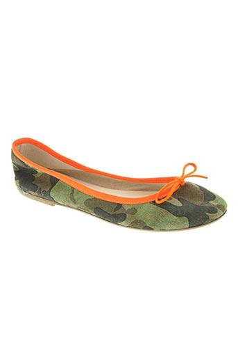 pop shoes chaussures femme de couleur vert