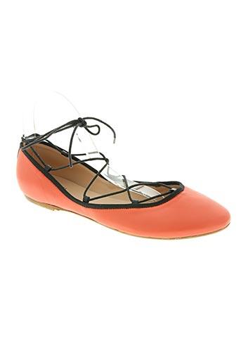 repaire chaussures femme de couleur orange