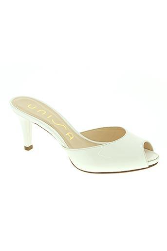 unisa chaussures femme de couleur blanc