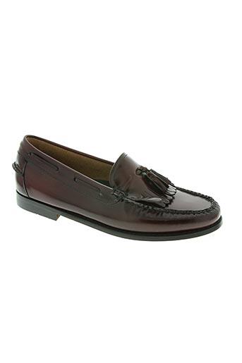 g.h.bass&co. chaussures homme de couleur rouge