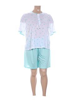 Pyjashort bleu GLORIA BARONI pour femme