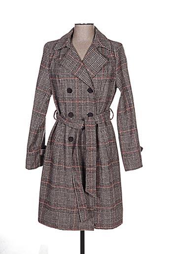 escandelle manteaux femme de couleur marron