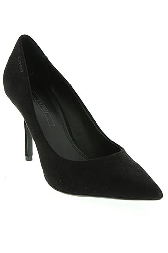 esprit chaussures femme de couleur noir