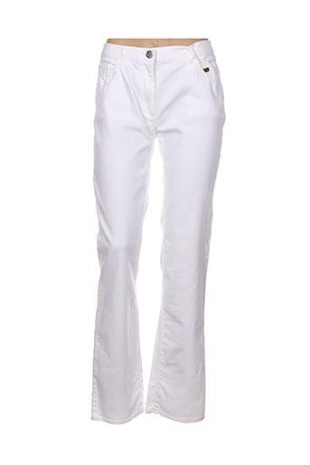 Pantalon casual blanc CHRISTIAN MARRY pour femme