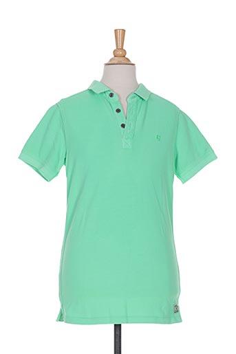 Polo manches courtes vert GARCIA pour garçon