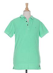 Polo manches courtes vert GARCIA pour garçon seconde vue