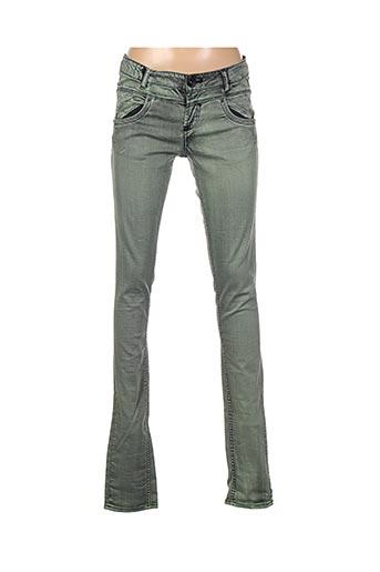 Jeans skinny vert GARCIA pour fille