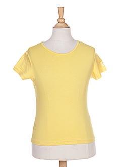 T-shirt manches courtes jaune IL ETAIT UNE FEE pour fille