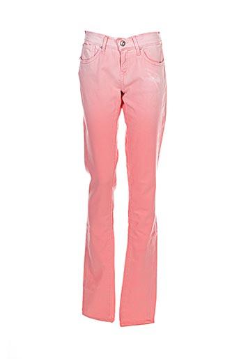 Pantalon casual rose PEPE JEANS pour fille