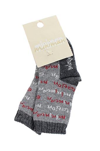 Chaussettes gris MINIMAN pour garçon