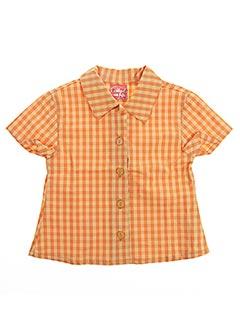 Chemisier manches courtes orange IL ETAIT UNE FEE pour fille