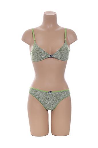 Ensemble lingerie vert AVET pour femme